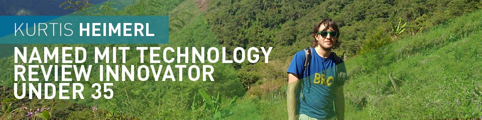 Kurtis Heimerl Named MIT Technology Review Innovator Under 35