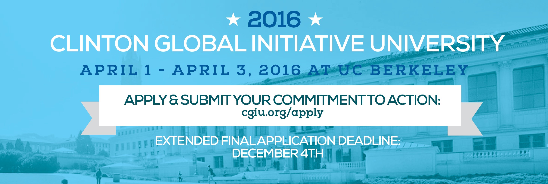 Clinton Global Initiative University (CGI U) 2016