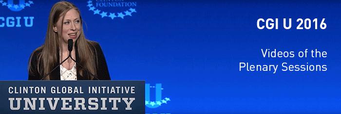 CGI U 2016 - Videos of Plenary Sessions