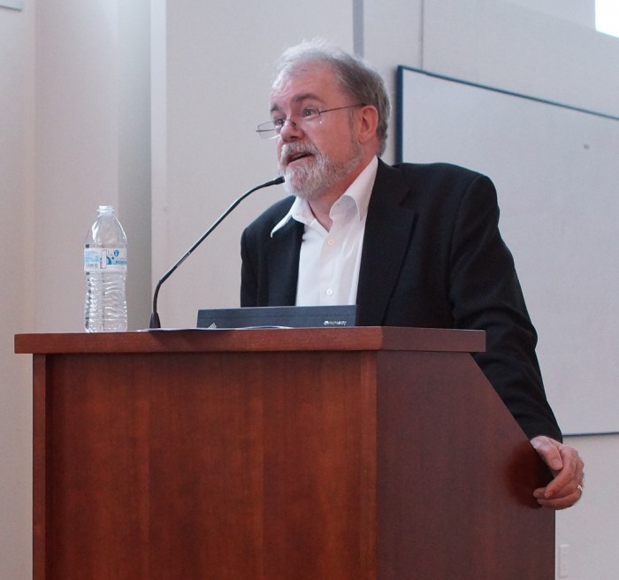 Economist Bill Easterly addressed UC Berkeley students, faculty, and community members on April 11, 2014. He stressed the importance of political and economic rights in development, calling for greater emphasis on individual freedoms and an end to technocratic approaches to development challenges.