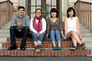 From left: Zack Fischmann, former Science Shop associate director; Karen Andrade, Science Shop executive director and founder; Michelle Endo, former Science Shop campus and community relations director; and Connie Kim, Science Shop website developer and graphic designer.