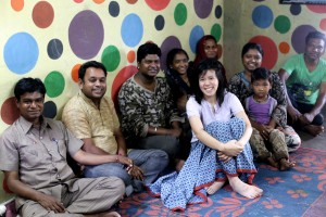 Hui with a group of artisans she worked with during Toto Express' pilot projects.