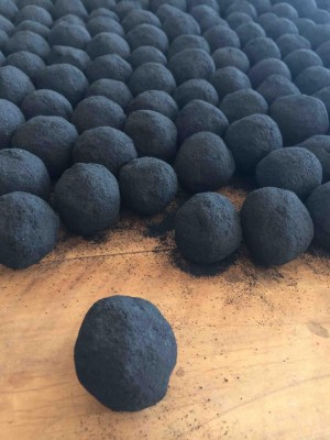 Briquettes: Briquettes made in summer 2015 by the Feces to Fuel team in Naivasha, Kenya.