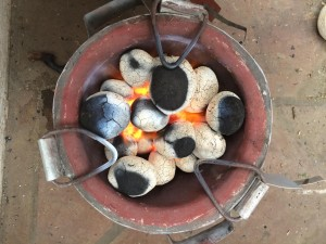 Cooking: The feces and rose waste combination produces briquettes that emit less smoke and burn longer than traditional biomass briquettes, which are made out of trash-slurry and organic matter.