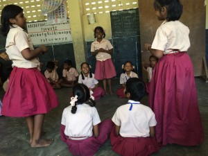 Students from a public elementary school in Chennai. © Hygiene Heroes, 2015