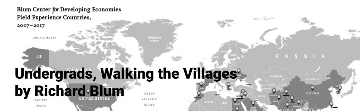 Blum Center Undergrads, Walking the Villages