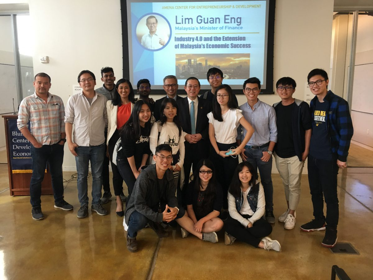 Malaysian Minister of Finance Lim Guan Eng Visits the Blum Center